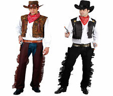 Wild West Cowboy Mens Fancy Dress Costume Gunslinger Saloon Rodeo Outfit