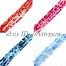 4MM SMALL PRETTY ROUND SMOOTH BANDED AGATE LOOSE GEMSTONE BEADS STRAND 15""