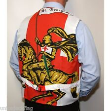 England St George Rose  Flag Waistcoat - World Cup Supporters