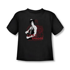 Bruce Lee Little Dragon T-Shirt Toddler Baby Tee Black 2T 3T 4T