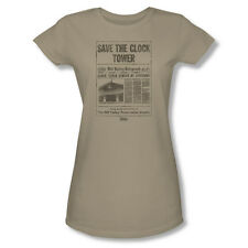 Back To The Future Clock Tower T-Shirt Junior Women Safari Green S M L Xl 2X