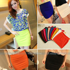 Women's Sexy MINI A-Line Slim Seamless Stretch Tight Short Fitted Bodycon SKIRT