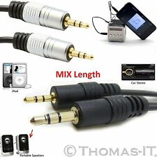 3.5mm Stereo Jack to Jack AUX Cable Audio Auxiliary Lead PC Car MP3 TV Mobile