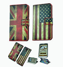 For Android mobile phone leather case luxury flip skin cover