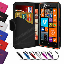 Leather Wallet Flip Case Cover FOR Nokia Lumia 625 Free Screen Protector