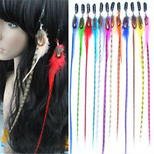 Wholesale Lot New Grizzly Feather Clip-in Hair Extensions 12 colour  FP85
