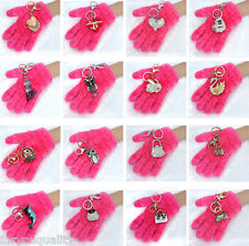 Sparkly Crystal Diamante Heart Handbag Animals Charm For Womens Girl Keyring Bag