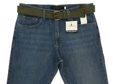 New Mens Calvin Klein Jeans Relaxed Straight with Canvas Belt Medium Wash Blue