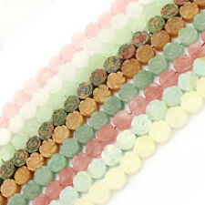 """Jewelry Making Beads Natural 14mm Carved Flower Gemstone Spacer Craft Strand 15"""""""