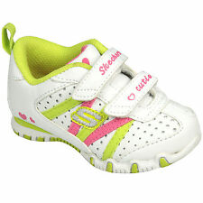 Skechers Infant Girls Bikers Main Squeeze Trainers In White From Get The Label