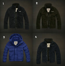 NWT Hollister by Abercrombie Men's Sherpa Fur Jacket Coat Quilted Parka S/M/L/XL
