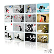BIG Canvas Banksy Set of 16 lot Olympic Angel Baloon Photos Print Reproduction