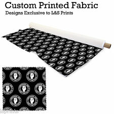 NORTHERN SOUL BLACK AND WHITE DESIGN FABRIC LYCRA SPANDEX JERSEY POLYESTER ALOBA