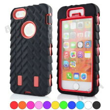 Heavy Duty Hybrid Impact Tire Stripe Silicone Hard Plastic Armor Case For iPhone