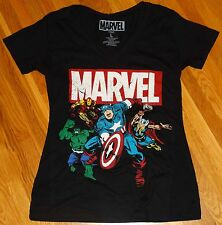 Marvel Heroes Thor, Iron Man, Captain America & The Incredible Hulk  Tee Shirt