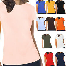 Hanes Womens Tasty Boat Neck Short Sleeve Casual Cotton Plain T Shirt Top