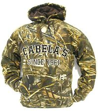 New Cabela's Heavyweight Waterfowler Hoodie 420 GM Mossy Oak RealTree MAX4 SNOW