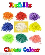 Loom Bands - 600 Bands & 24 S Clips - UK Seller - Lots of colours