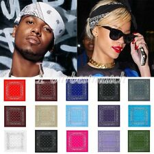Fashion Unisex Cotton Paisley Bandanas Double Sided Head Wrap Scarf Wristband