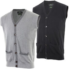 Stuburt 2013 Mens Clubhouse Classic Sleeveless Cardigan Button Jumper Cotton