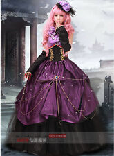 Court theater victorian princess Cosplay Lolita Costume Halloween Prom dress
