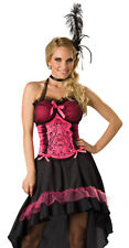 Sexy Saloon Girl Hot Pink Can Can Dancer Dress Costume