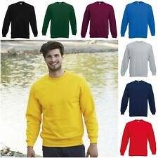 NEW FRUIT OF THE LOOM SWEATSHIRT MENS SWEATER JUMPER TOP SMALL-3XL