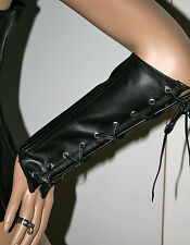 Sexy Wrist Corset Real Leather Gauntlets 1 pair - new