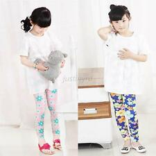 Cute Baby Kids Girl Floral Stretch Legging Milk Fiber Child Skinny Pant Trousers