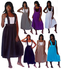 @H135 JUMPER PINAFORE SKIRT STRAPS RAYON PLEATED DESIGN LAGENLOOK MADE 2 ORDER