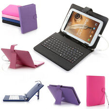 "8"" Leather Keyboard Case for Samsung Note 8.0 N5100 8"" inch Universal Tablet PC"