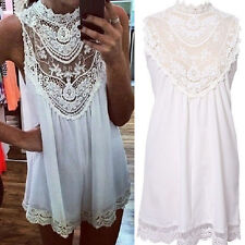 Sexy Women Lace Chiffon Party Evening Summer Ladies Short Beach Dress Nice
