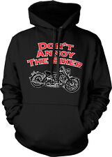 Dont Annoy The Biker Motorcycle Rider Chopper Hog Hardcore Hoodie Pullover