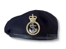 RN ROYAL NAVY PETTY OFFICER BERET & MOD METAL CAP BADGE HIGH QUALITY 53-62m HMS
