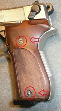 """Umarex Nickel Walther CP88 6"""" CO2 Wood Grips Custom Stainless Steel Bolts"""