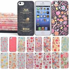 Ultra Thin Pattern Floral Protection Case Cover Skin Shell For iPhone 5 5s Hot
