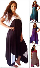 @F603 MAXI DRESS STRETCH RAYON JERSEY CHIC COLOR BLOCK LOTUSTRADERS MADE 2 ORDER