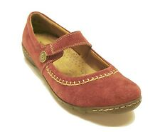 New! Hush Puppies $95  Dark Red Suede Gyneth Flats Adorable Women's Shoes