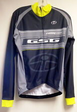 Elite CYCLING Long Sleeve Jersey (Gray/Yellow) Made in Italy by GSG