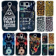 Hard Colored Drawing Printed Case Cover Skin Protector Bumper For Samsung S4