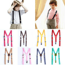 New Children Kids Boy Girls Toddler Clip-on Suspenders Elastic Adjustable Braces