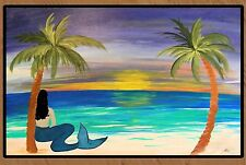 Brunette mermaid  Floormat  20 ounce loop style from Original Art