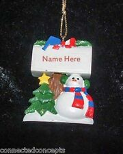 Personalized Snowman Christmas Ornament from Kurt Adler *SEE NAME SELECTION* NEW