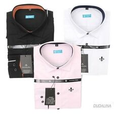 White Dudalina black burgundy pink long-sleeved shirt Men's casual business Fit