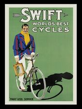 Bicycle Tennis Player Swift World Best Cycles Bike Vintage Poster Repro FREE S/H