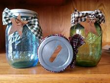 Country Glass Mason Canning Jar COIN BANK/PIGGY BANK~Primitive Home Decor