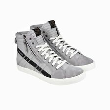 Diesel Mens D String Gray Black Textile High Top Lace Up Sneakers Shoes