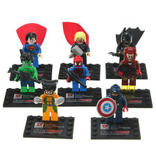 Justice League Avengers Super Hero Mini Figure Building Block Bricks Kids Toy