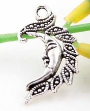 Wholesale 19/41Pcs Tibetan Silver Moon  Charms   26x15mm(Lead-free)