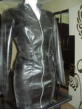 THE FEDERATION RUBBER LATEX SLEEVED ZIP DRESS ALL SIZES COLOURS NEW PLUS SIZES